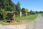 Výroba a instalace odpočívek a informačních tabulí na soutoku řek Moravy a Dyje